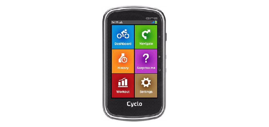Mio Cyclo 605 interface