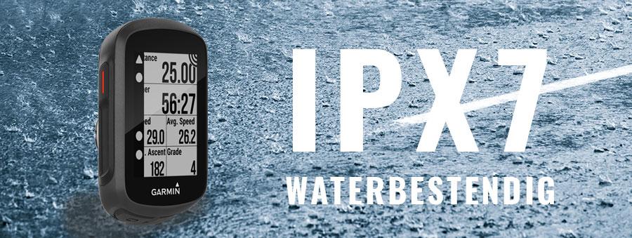 Garmin edge 130 IPX7 waterbestendig