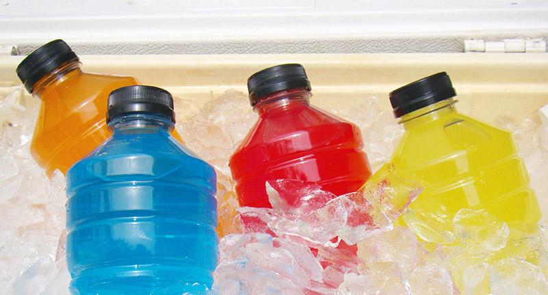 Verschillende soorten sportdrank wirelenners