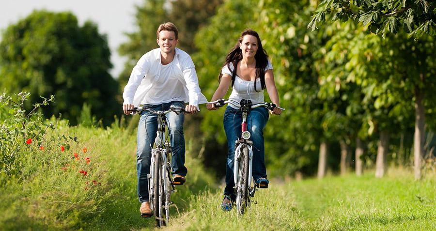 Recreatieve fietsers