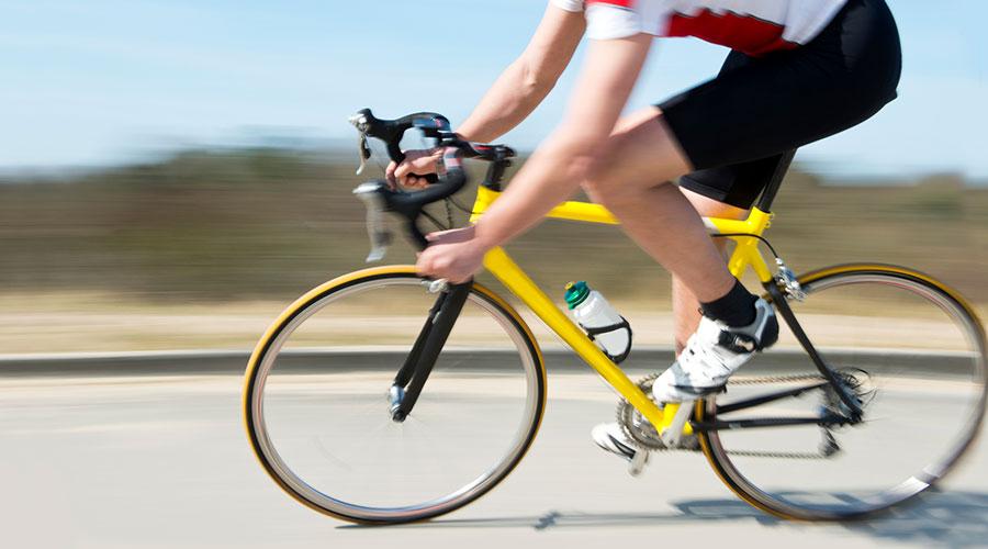 Snelle mountainbiker